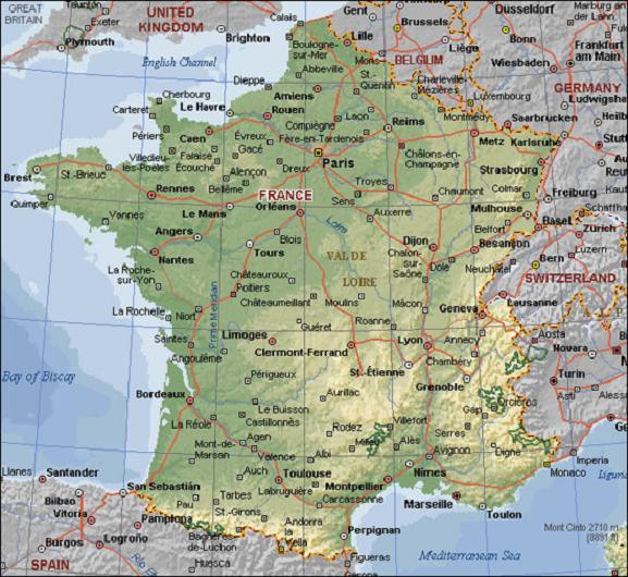 Mediterranean cuisine mapa-francia